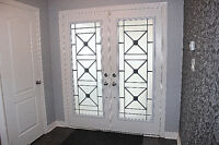 Frosted Wrought Iron Glass Door Inserts