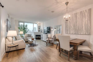 1 BDR + Lrg Den Lower Lonsdale, Renovated, Water & Mountain View