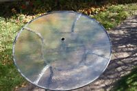 """Round Glass Top Table, 48"""" Diameter"""