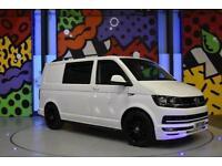 2017 VW TRANSPORTER T6 SWB 2.0TDI 160PS KOMBI LV SPORTLINE PK WHITE