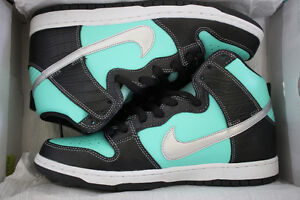 "NIKE SB DUNK HIGH DIAMOND SUPPLY CO (SIZE 10) ""TIFFANY"" WORN 1x"