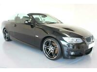 2012 BLACK BMW 320D CONVERTIBLE 2.0 SPORT PLUS EDITION CAR FINANCE FR £185 PCM