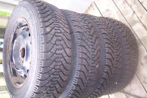 4 tires rims  175x70x13  bolts 4x100