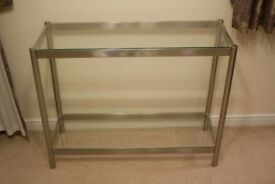 M&S glass console table