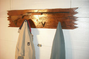 Barn Board Cabin Cottage Folk Art Coat Rack Hall Stand St. John's Newfoundland image 2