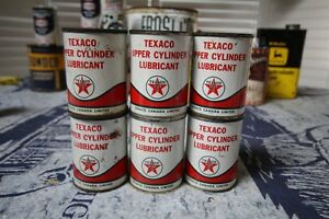 TEXACO UPPER CYLINER LUBRICAN TIN 4 OZ CAN