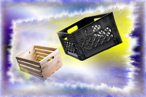 WANTED : Milk Crates And Wood Crates