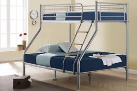 AMAZING OFFER!! ***BUNK BED SALE**Trio sleeper bunk bed in 3 colour black white or silver colors