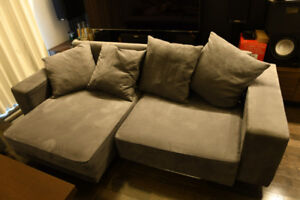 Sofa Pull Out Chaise Lounger/bed - Metal Frame Construction