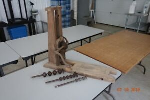 ANTIQUE BORING DRILL USED FOR BARN BUILDING IN 1800'S