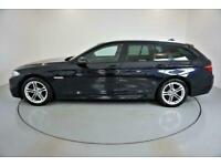 2014 BLACK BMW 520D TOURING 2.0 M SPORT DIESEL AUTO CAR FINANCE FR £201 PCM