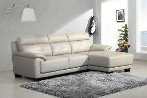 TOP GRAIN LEATHER SECTIONAL SOFA FOR SALE