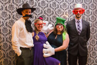 Photobooth with a personal photographer+Background+Props $125