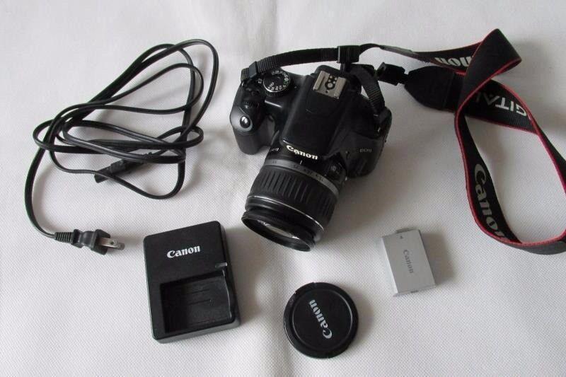 Canon EOS 450D 12.2MP Digital-SLR DSLR Camera with EF-S 18-55mm Lens