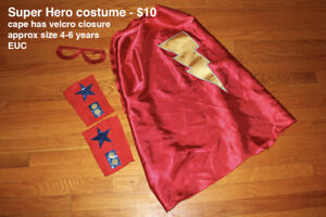 Super Hero Costume (Kids size 4-6 years)