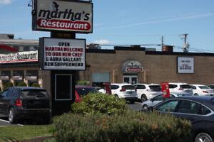 Martha's Restaurant, Main Street, Shediac is HIRING