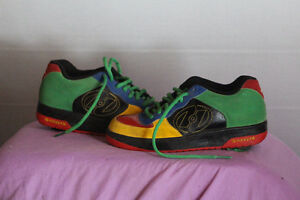 ALMOST NEW  MULTI COLOUR GENUINE HEELY RUNNING SHOES SIZE 7