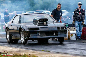 camaro drag big tire
