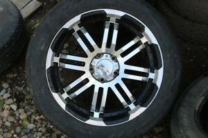 Reduced 22 inch 5 bolt rims with tires