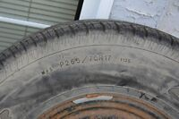 Good Year Wrangler M&S Tire on Rim