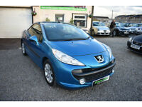 Peugeot 207 CC 1.6 16v 120 Coupe Sport BLUE 2009 MODEL +BEAUTIFUL+