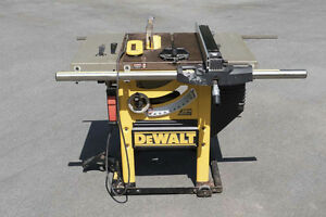 """Dewalt DW746 10"""" Table Saw and Assorted Accessories"""