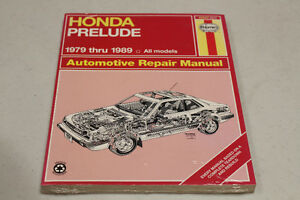 1979-1989 HONDA PRELUDE AUTOMOTIVE REPAIR MANUAL