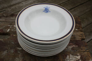 Royal Canadian Military Institute Dinnerware! 12 Soup Plates!