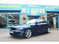 2010 10 BMW 1 SERIES 2.0 120i M SPORT 2DR COUPE 168 BHP AUTOMATIC LE MANS BLUE