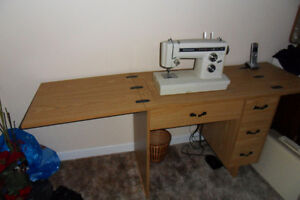 Kenmore model 1941 Free-arm Sewing Machine c/w table/cabinet