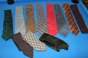 11 Designer Ties /Cravates - Made in Italy -NEW   $50 for lot !!