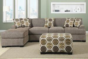 BRAND NEW!  Condo Sized Sandstone Small Sectional Sofa Set! Edmonton Edmonton Area image 2