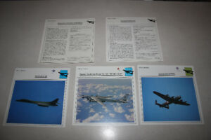 Warplanes Collectors Club, Photo / Data Cards (Qty 380)
