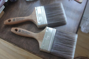 2 Quality Paint / Varnish Brushes from Benjamin Moore