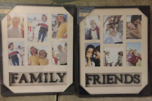 """Family"" and ""Friends"" Collage Frames"