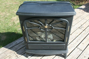 ELECTRIC   HEATER   ' WOOD STOVE''