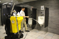 Pressure wash restaurant kitchen/washrooms/clinics