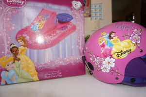 luge gonflable- tube a neige/ snow tube sled disney princess