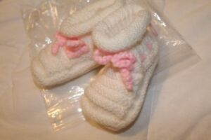 New Hand Knit Baby Bootees