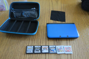 Nintendo 3DS XL, 5 Games, and Travel Case!!