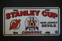 Authentic 1995 Stanley Cup -NHL NJ Devils Car Plate