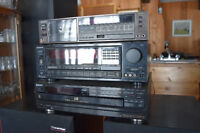 SonyTurntable, AM FM Receiver, Speakers, CD Player, Tape Deck
