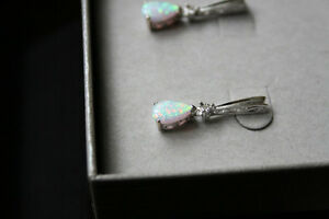 Peoples Opal and Diamond Necklace and Earring set Campbell River Comox Valley Area image 3