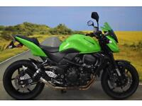 Kawasaki ZR750 2012**PUIG SCREEN, R&G BAR ENDS, R&G ENGINE PROTECTORS**