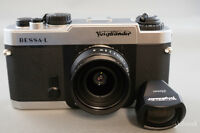 Voigtlander 25 f4.0 Snapshot Skopar MC 25mm with VF & Bessa-L