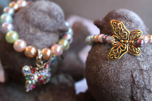 New! Fall into Autumn... Vintage Style Butterfly Charm Bracelet Kitchener / Waterloo Kitchener Area image 5