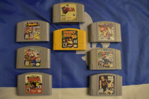 Copies N64 Games MARIO PARTY, SMASH BROS.