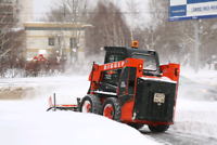 Seasonal snow plowing