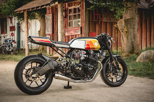 Award winning Honda CB900F cafe racer