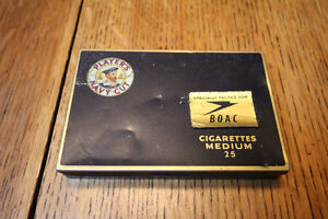 RARE PLAYERS BRITISH OVERSEAS AIRWAYS CORPORATION CIGARETTE TIN